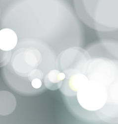Abstract bokeh light on gray background vector