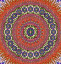 Abstract oriental star mandala fractal design vector image vector image