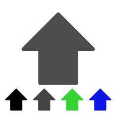 Arrow up flat icon vector