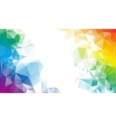 Colorful rainbow polygon background or vector image vector image