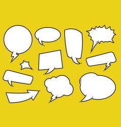Comic speech bubble set vector