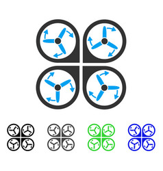 Copter screws rotation flat icon vector