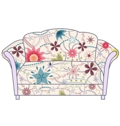 Couch painted vintage silhouette vector image