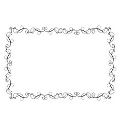 decorative frame and borders art calligraphy vector image vector image