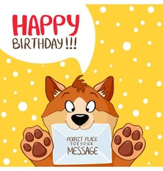 dog message birthday vector image vector image