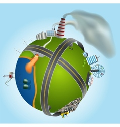 global environmental problems showing types of vector image vector image