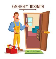 Locksmith door service professional master vector