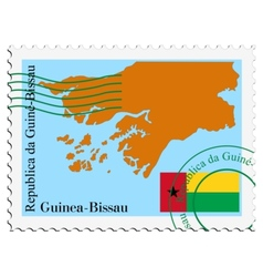 mail to-from Guinea Bissau vector image vector image