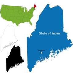 Maine map vector image