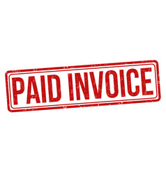 paid invoice grunge rubber stamp vector image