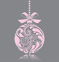 Pink christmas toy vector image vector image