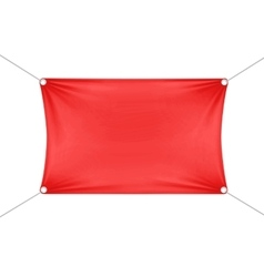 Red blank empty horizontal rectangular banner vector