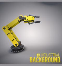 Robotic equipment industrial background vector