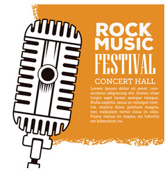 Rock musica festival flyer vector