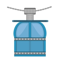 Ropeway cabine gondola vacation travel vector