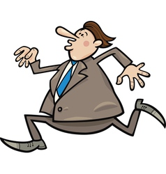 running overweight businessman vector image