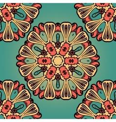 Seanless hand drawn vintage mandala background vector image