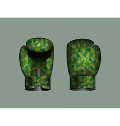set boxing gloves military Eps 10 vector image