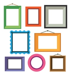 set of different colorful photo frames vector image vector image