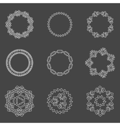 Set of trendy geometric shapes hipster frames vector image vector image