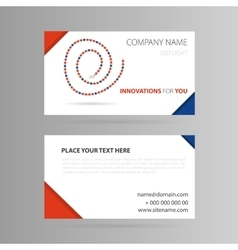 Template business card with LED tape vector image vector image