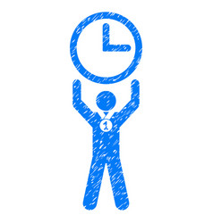Time champion grunge icon vector