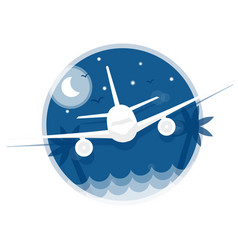 Travel icon flying in the sky plane vector