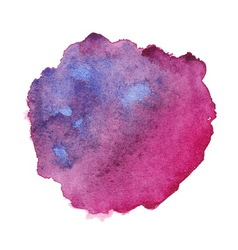 Watercolor purple spot vector image