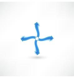 Arrow objects vector image