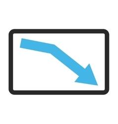 Fail trend framed icon vector