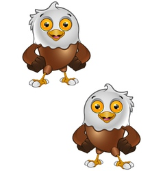 Bald Eagle Character 4 vector image