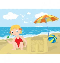 summer playground vector image
