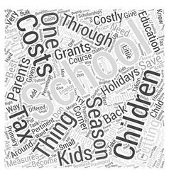 Sm saving money on school expenses of kids word vector