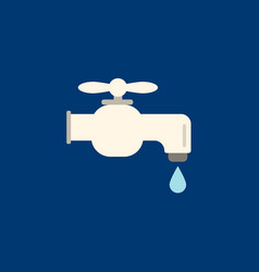 Faucet icon flat faucet from bathroom vector