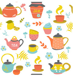 tea ceremony seamless pattern vector image