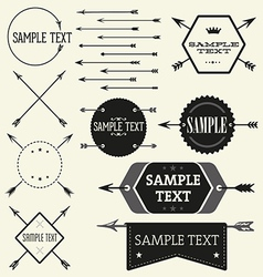Set of vintage styled design Hipster logo vector image