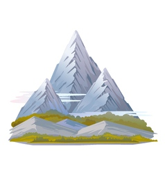 High mountain landscape vector