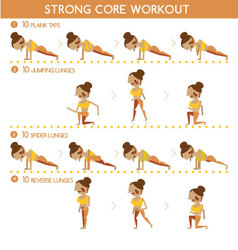 Strong core workout vector