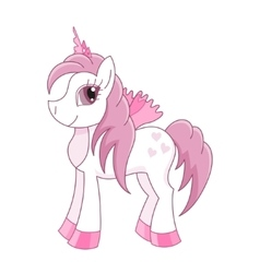 Cute horse princess royal vector