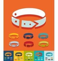 Flat design dog-collar vector image