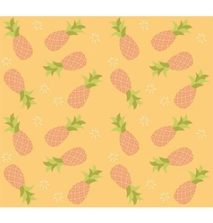 Seamless pattern with hand drawn pineapple fruit vector