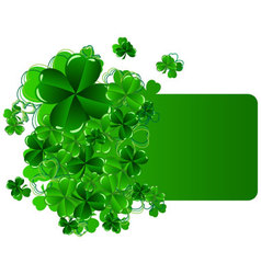 Greeting cards st patrick day with shamrock vector