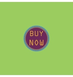 Buy now icon badge label or sticker vector