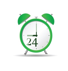Clock in green vector