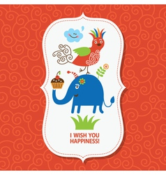 Cute greeting children card vector