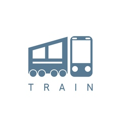 Abstract icon design template of train vector