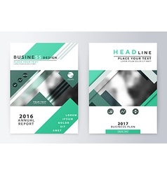 Annual report and brochure brochure template vector