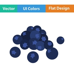 Flat design icon of blueberry vector