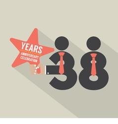 38 years anniversary typography design vector