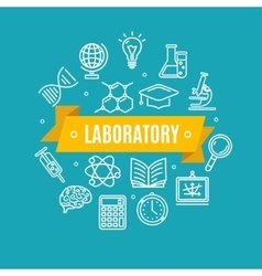 Education chemistry science concept vector